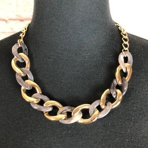 Gold plated and acrylic necklace